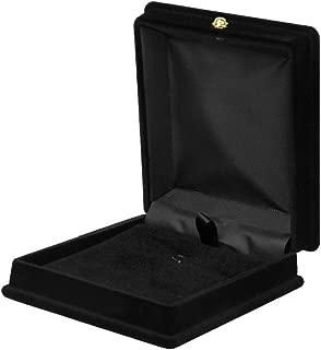 Necklace Chain Jewelry Display Storage Box Gift Case Holder Organizer--Black