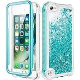 wlooo Cover per iPod Touch 5 6 7, Glitter Bling Liquido Corpo Pieno Custodia Sparkly Luccichio TPU Silicone Protettivo Morbido Brillantini Quicksand Case con Pellicola Protettiva (alzavola)