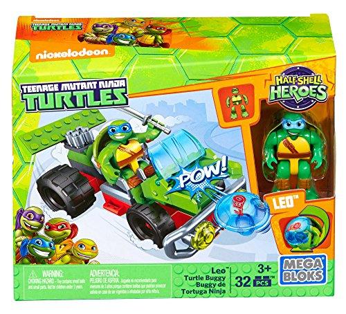 Mega Bloks–Teenage Mutant Ninja Turtles, Leo with Car (dmw43)