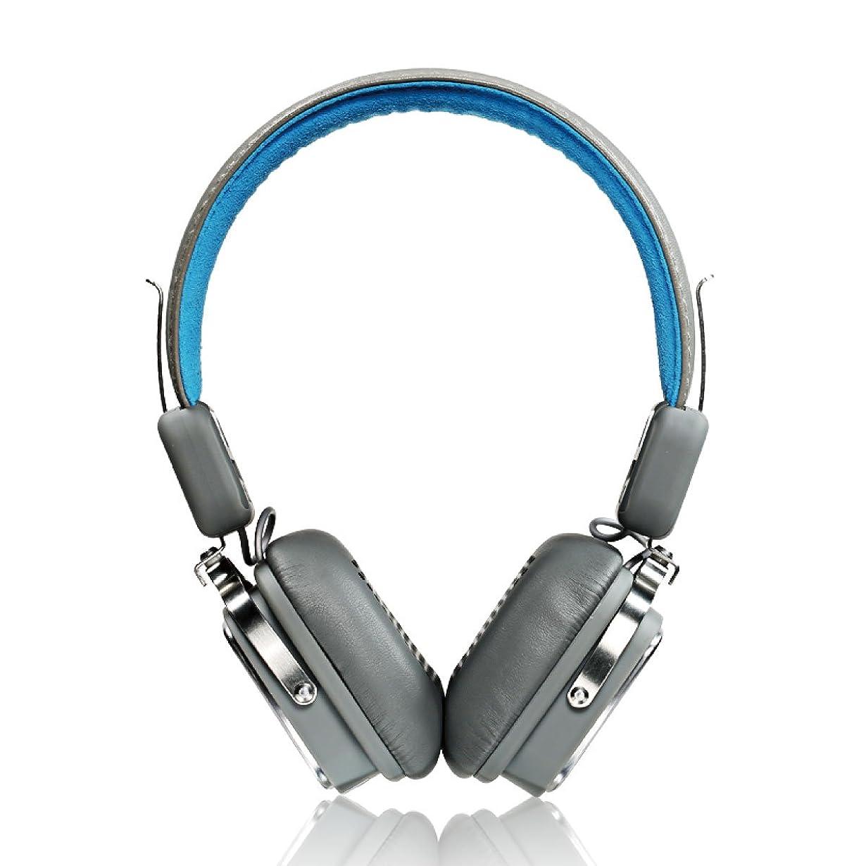 剥離状況肝REMAX Bluetoothヘッドホン ワイヤレス 高音質 10時間再生 RB-200HB-BL (ブルー)