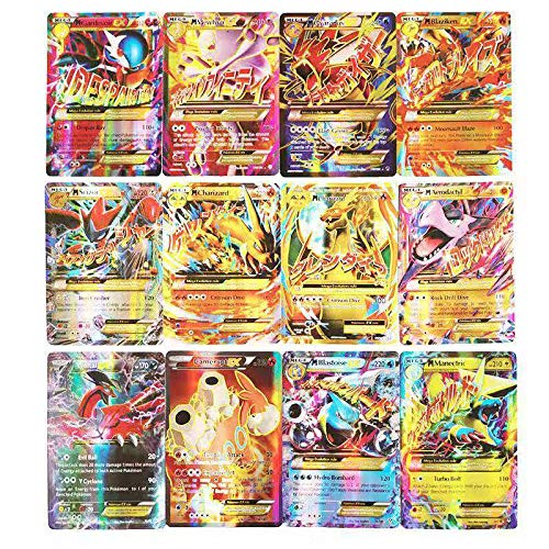 Cortneyrs Pokemon Card, Pokemon Flash Card, Pokemon Card, Carta per Bambini, 60 Carte GX Complete, 60 Carte Mega Complete (60pcsEX)