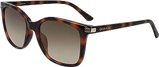 نظارة شمسية للنساء من كالفن كلاين، بني، 54 ملم CK19527S