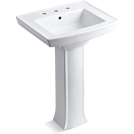 Kohler K 2359 8 0 Archer Pedestal Bathroom Sink White Pedestal Sinks Amazon Com