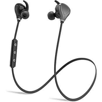 Amazon Com Bluetooth Headphones Wireless Sports Running Headphones Lightweight Stereo Noise Cancelling Sweatproof W Mic Earbuds Cordless Earphones In Ear Headsets For Gym Workout Compatible With Iphone Gray Home Audio Theater