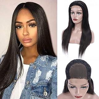 381b79ec836fc3 Straight Hair 4x4 Lace Frontal Wig Brazilian Virgin Human Hair 4x4 Lace  Closure Wig For Women