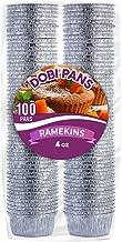 DOBI Ramekins [100 Pack - 4 oz.] - Disposable Aluminum Foil Ramekins, Standard Size
