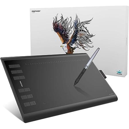 HUION ペンタブレット Androidスマホ・PC対応 ショートカットキー28個設定可 10x6.25インチ ペンタブ 板タブ H1060P