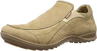 Woodland Men's OGC 3007118_Khaki Leather Loafers-8 UK (42 EU) (9 US) 3007118KHAKI