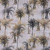 SCHÖNER LEBEN. Dekostoff Vorhangstoff Baumwollstoff Palmen