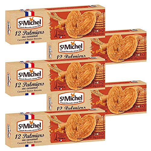 サンミッシェル パルミエ キャラメル100g 5箱セット フランス クッキー ビスケット 輸入菓子 ギフト