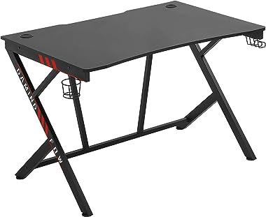 Gaming Desk Computer Desk Home Office Desk Racing Style Study DeskExtra Large Modern Ergonomic PC Carbon Fiber Writing Desk T