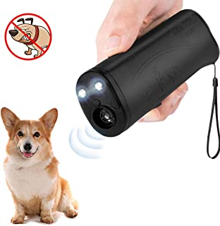 LEKETI Anti Barking Device,Ultrasonic Handheld Dog Repellent and Training Tools with LED Flashlight,Indoor/Outdoor Stop Bark Device Safe for Small Medium Large Dogs