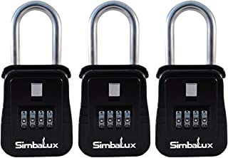 SimbaLux Combo Realtor Lockbox Quality 4 Digit Numeric Combination Real Estate Lock Box, 3-Pack