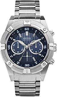 Guess Style W0377G2 for Men - Analog Casual Watch, Stainless Steel Case With Stainless Steel Band