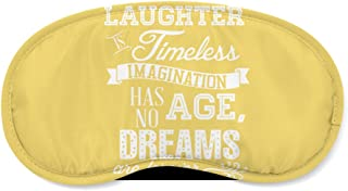 Laughter is Timeless Walt Disney Quote Yellow - Sleeping Mask - Sleeping Mask