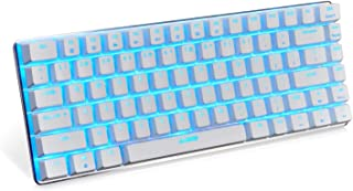 Ajazz AK33 Mechanical keyboard 82 Keys USB Wired Gaming Keyboard with Backligh for Tablet Desktop Computer (White shell Bl...