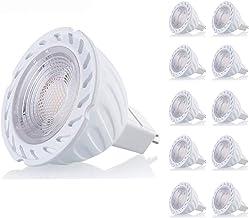 Yaeer MR16 5W LED Light Bulbs,Daylight White 6000K, GU5.3 LED Spotlight, 450lm 38 Degree Beam Angle, for Home, Landscape, ...