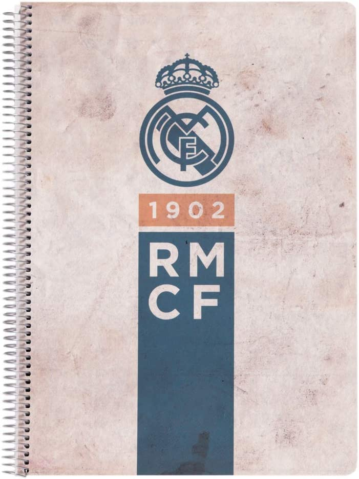 Erik CTPA4X40011 A4 Real Madrid Regular store Collection Vintage Ranking TOP20 Spiral Notebo