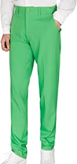 Men's Golf Pants Plaid Tapered Stretch Khaki Tech Relaxed Fit Checkered