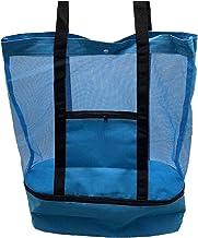 Ladies Picnic Bag Mesh Refrigerator Compartment Oversized Rits Gesloten Beach Tote Bag Geschikt voor picknicks en reistas,...