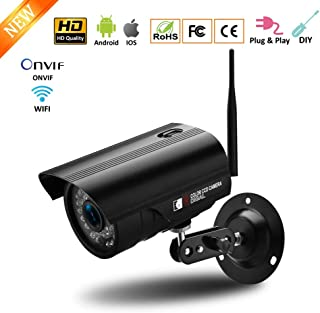 SXTCC 720 HD P2P Indoor and Outdoor Waterproof with Night Vision Motion Detection Two-Way Audio Surveillance Zoom Monitor,for Baby/Pet/Elderly,720P+100W