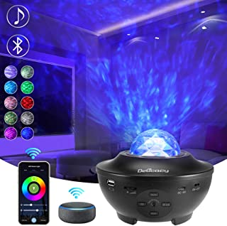 Delicacy Smart WiFi Stella Proiettore, Bluetooth Onde Oceaniche Proiettore Nebulosa Luci Notturne, LED Rotante Nebula Lamp...
