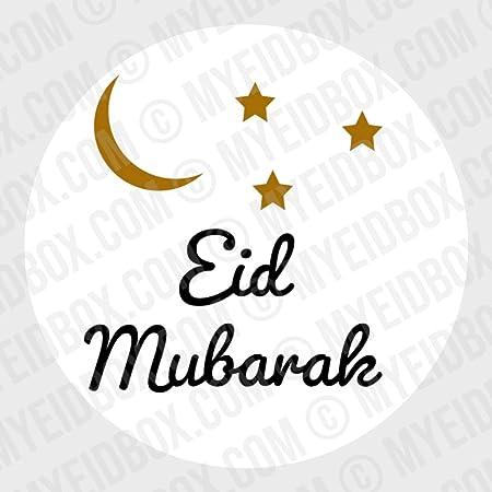 ifundom Eid Mubarak Favor Bolsas Y Pegatinas Eid Mubarak Cajas de Regalo Musulm/án Isl/ámico Decoraci/ón Ramadan Suministros
