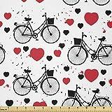 Lunarable Romantischer Stoff von The Yard, Grunge Herz
