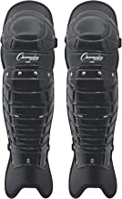 "Champion Sports Umpire Leg Guards: Single Knee Umpire's Shin Guard for Baseball & Softball - Pair of 16.5"" Umpiring Shin Pads for Adults - Black"