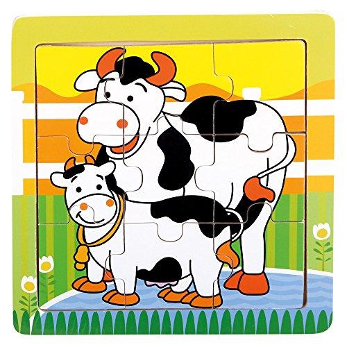 Bino- Puzzle con Mucche, 88018
