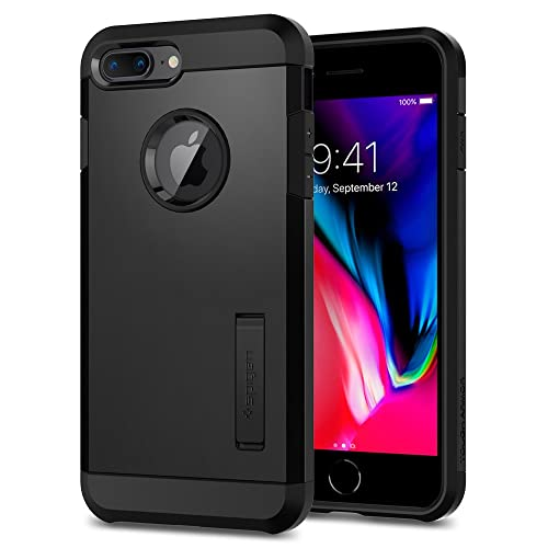 2e42d8d0c0e iPhone 8 Plus Case, Spigen Tough Armor [2nd Generation] Air Cushion  Technology with