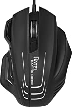 Computer Mouse Wired, RATEL Ergonomic USB Optical Mouse Mice with Chroma RGB Backlit and 8 Programmable Buttons, 250 to 75...