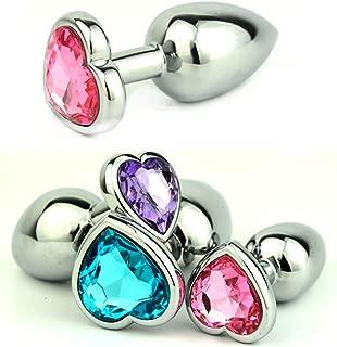 10Pcs New Heart Shaped KSIEHGNB032-lkn Crystal Jewelry Stainless Steel Small Size Åñǎl Plug 28Mm X 73Mm Gs0206
