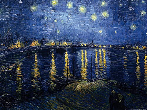 1art1 51815 Vincent Van Gogh - Sternennacht Über Der Rhône, 1888 Poster Kunstdruck 80 x 60 cm