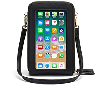 Lightweight Crossbody Phone Bag for Women, Small Shoulder Bag Cell Phone Wallet Purses and Handbags with 14 Credit Card Slots