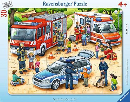 Ravensburger Kinderpuzzle - 06144 Spannende Berufe - Rahmenpuzzle für Kinder ab 4 Jahren, mit 30 Teilen