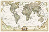 El Mundo Executive (125x186) Grande Inglés: Wall Maps World (National Geographic Reference Map)