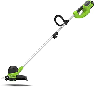 comprar comparacion Greenworks Battery Lawn Trimmer G40LT (Li-Ion 40V 30cm ancho de corte 7000rpm control de velocidad variable giratorio e in...