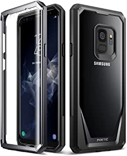 Galaxy S9 Case, Poetic Guardian [Scratch Resistant Back] [360 Degree Protection] Full-Body Rugged Clear Hybrid Bumper Case with Built-in-Screen Protector for Samsung Galaxy S9 Black