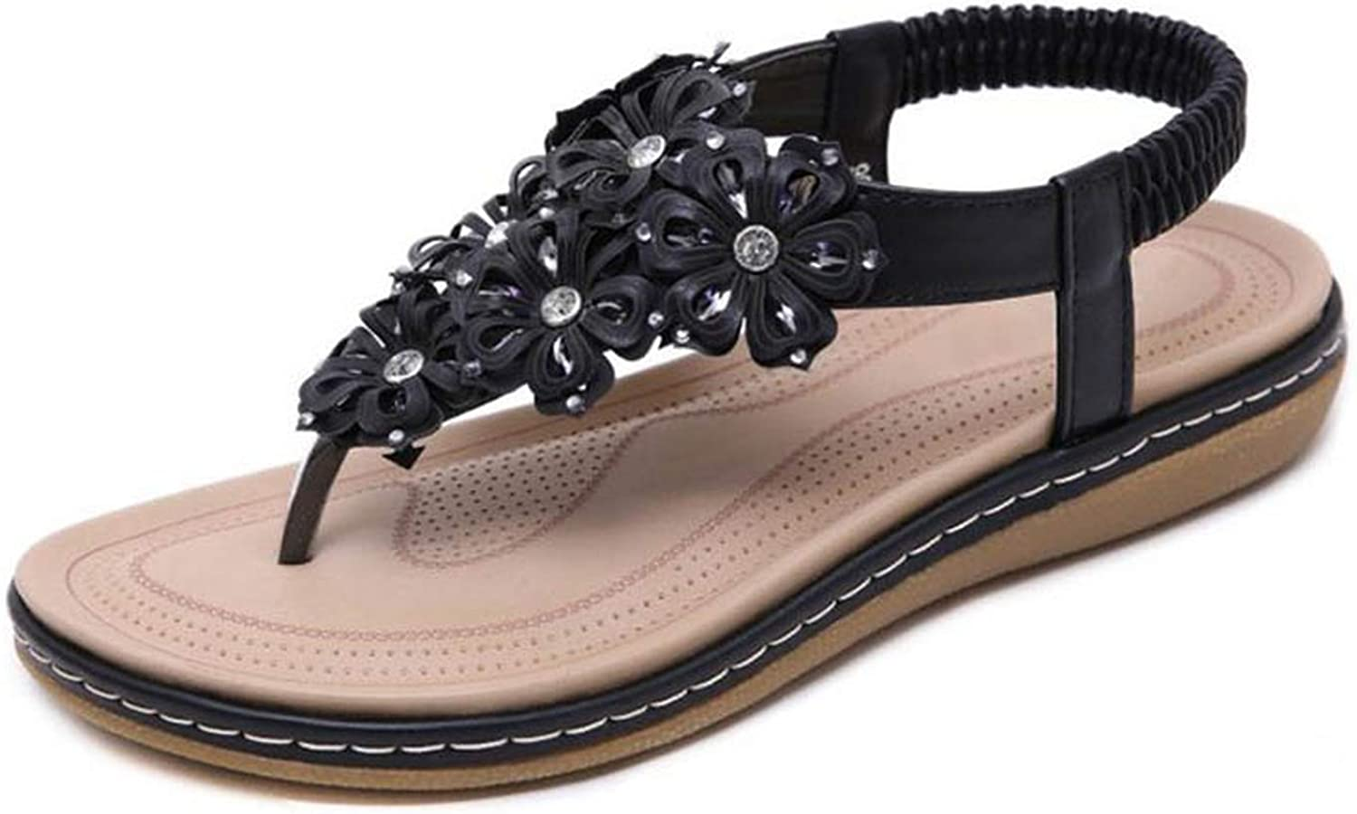 QianQianStore Crystal Flowers Young Fashion Spring shoes Women Summer Beach Flip Flops Sandals Outdoor Club