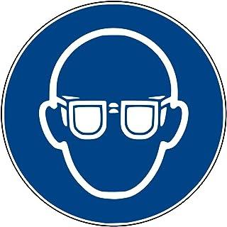 Aufkleber Gebotsschild GebotszeichenAugenschutz benutzen Folie ISO 7010 Durchmesser5-30cm blau made by MBS-SIGNS in Germany, Größe: Durchmesser20 cm
