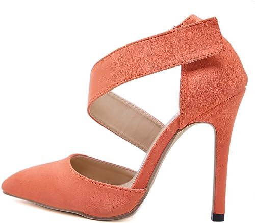 He-yanjing Chaussures de Robe des Femmes, 2019 Nouvelle Mode Sauvage Sauvage Sauvage Pointu européen et américain Style Haut Talon élégant Les Les dames Sexy Sandales,a,40 c61