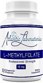Atlantic Laboratories (5-MTHF) L-Methylfolate 15 mg - 15000 mcg - 120 Vegetarian Capsules - Professional Strength Active Folate Non-GMO