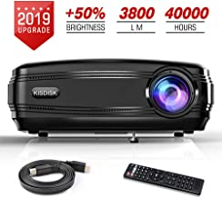 "$159 » Video Projector, 3800LM HD Movie Projector 200"" LCD Home Theater Projectors Support 1080P HDMI VGA AV USB Laptop Smartphone for Office Business PowerPoint"