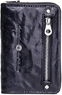 LDUNDUN-BAG, 2019 Leather Fashion Casual Wallet Multi-Function Leather Short Wallet Women's Wallet (Color : Black, Size : S)