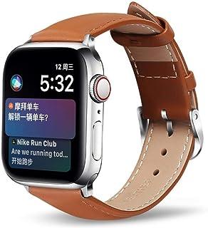Cuero para Apple Watch Band adecuado para 5 40mm 44mm pulsera cinturón correa de cuero correa de reloj 38mm 42mm para Iwat...