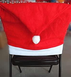 Clearance Sale!DEESEE(TM)1pcs Santa Red Hat Chair Covers Christmas Decorations Dinner Chair Xmas Cap Sets