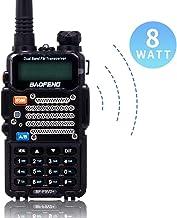 BaoFeng Two Way Radio,8-Watt Dual Band Radio with LED Display,Portable Walkie Talkies Includes 2100mAh Large Battery ,BF-F9V2+(Black, 1Pack)