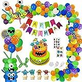SPECOOL Monster Party Globos Decoración, DIY Monster Bash Latex Globos de Látex para Monster Bash Party Pack para Niños Cumpleaños Baby Shower Party Decoration