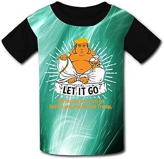 Aslgisy Child Summer Tee,Creative Anti Trump Fat Buddha Casual 3D Printed T-Shirt Short Sleeve for Kids Boys Girls